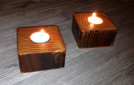 Made from re-purposed redwood 2x4s