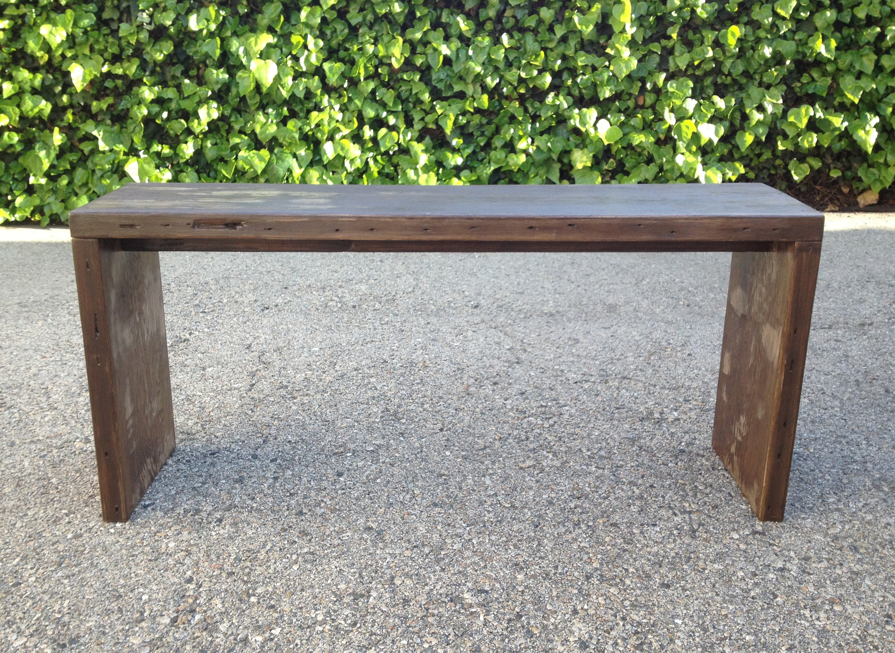 Superb img of Modern Reclaimed Wood Bench  with #48662F color and 2857x2084 pixels